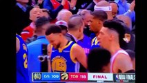 Drake and Draymond Green exchange words face to face altercation after Game 1 NBA finals loss for Warriors vs Raptors who win 5-30-19