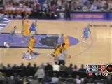 NBA BASKETBALL - Mike Bibby Tremendous Block On Lebron James
