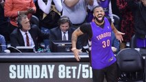 Drake Wears Dell Curry Toronto Raptors Jersey To NBA Finals Game 1