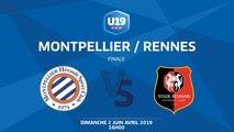 Finale U19 National I MHSC / Rennes - Dimanche 2 Juin à 16h00