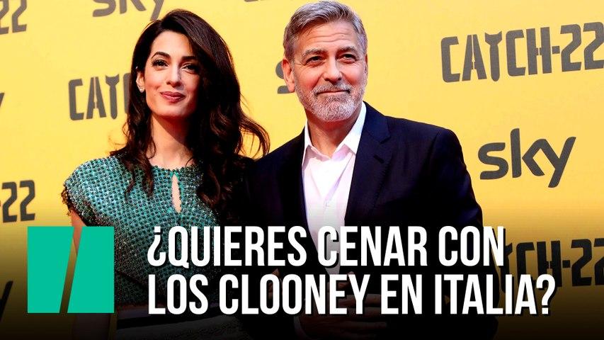 ¿Quieres cenar con los Clooney en Italia?