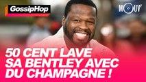50 Cent lave sa Bentley avec du champagne !