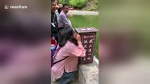 This water fountain in China is controlled by tourists' voices