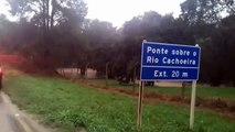PRF alerta para situação de rios na BR-153 entre Irati, Rebouças e Rio Azul