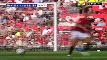 Le premier match de Cristiano Ronaldo avec Manchester United en 2003