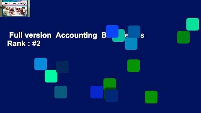 Full version  Accounting  Best Sellers Rank : #2