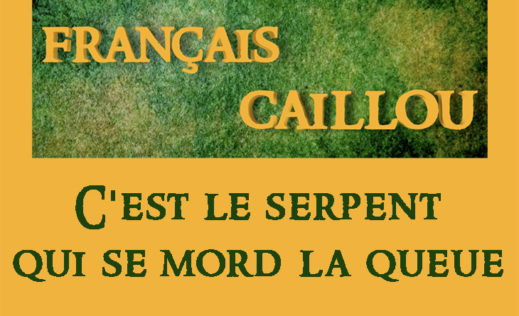 """Français caillou / Définition du jour : """"C'est le serpent qui se mord la queue"""""""