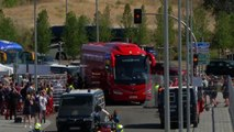 Liverpool arrive at stadium in Madrid on eve of UEFA Champions League final