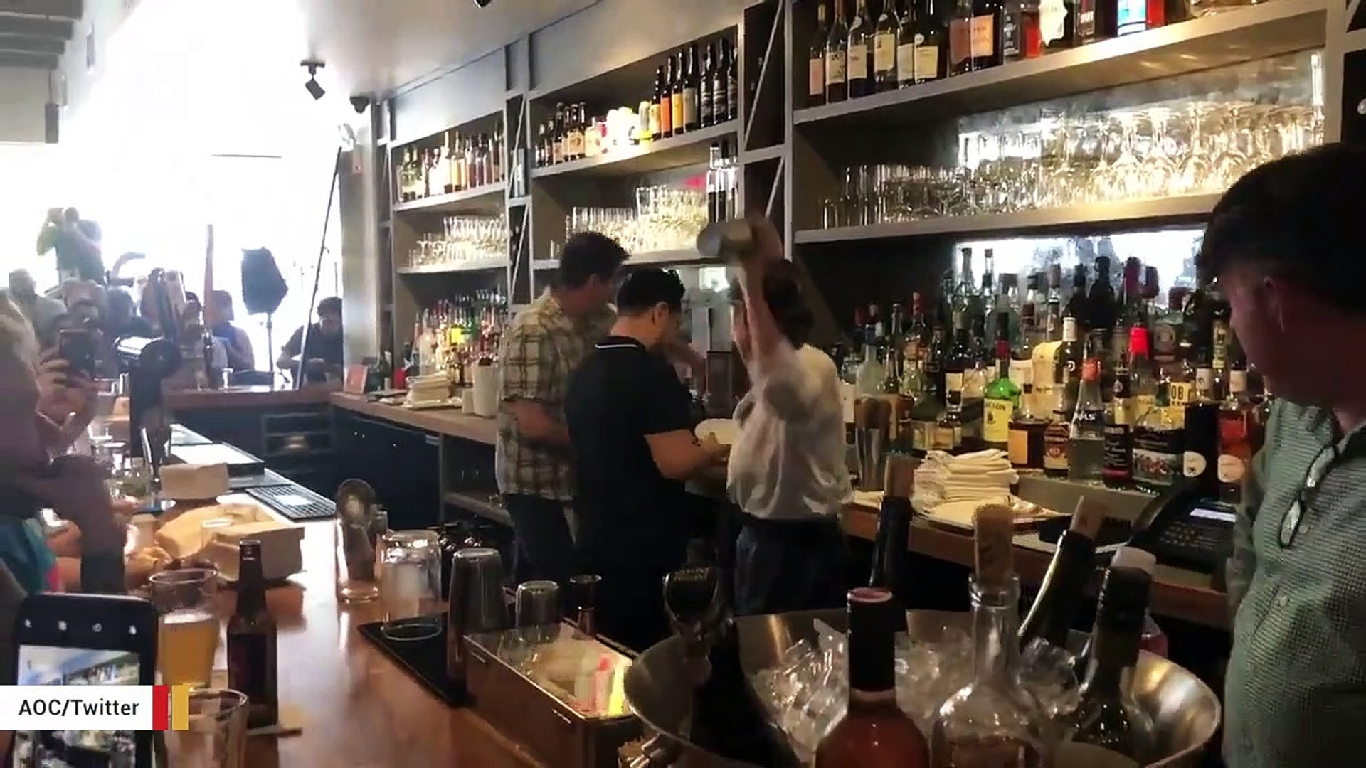 Ocasio-Cortez Shares Video Showing Her Bartending To Promote Wage Act