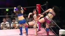 Sakisama & Misao vs Mizuki & YUMI when Sakisama submitted YUMI