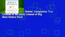 Full E-book  Small Giants: Companies That Choose to Be Great Instead of Big  Best Sellers Rank :