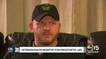 Valley veteran waits months for prosthetic leg