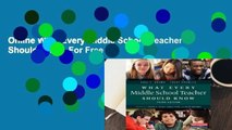 Online What Every Middle School Teacher Should Know  For Free