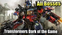 Transformers Dark of the Moon The Game All Bosses HD