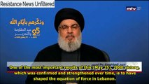 Hassan Nasrallah: Without Hezbollah, South Lebanon would be Israel's