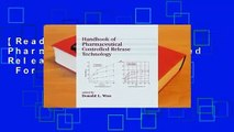 [Read] Handbook of Pharmaceutical Controlled Release Technology  For Kindle