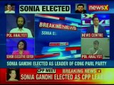 Sonia Gandhi elected as Leader for Congress Parliamentary Party in Lok Sabha