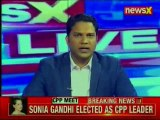 Political reaction on Sonia Gandhi elected as Leader for Congress Parliamentary Party in Lok Sabha