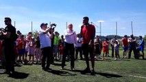 Corentin Tolisso a inauguré le stade à son nom
