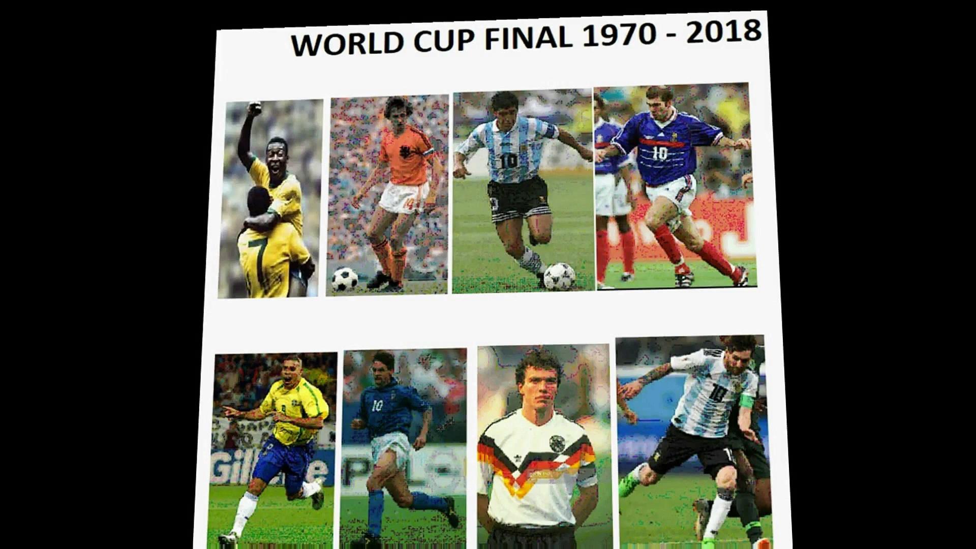 world cup Finals 1970 – 2018