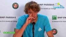 Roland-Garros 2019 - Ce qu'Alexander Zverev pense de Fabio Fognini qu'il jouera lundi en 8es !