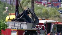 Shocking footage of car wreckage following death of Jose Antonio Reyes