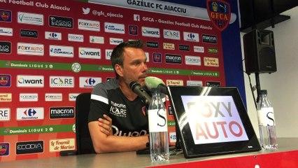 La conférence de presse d'avant match d'Hervé Della Maggiore avant GFCA-Le Mans