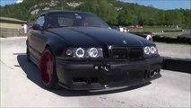 BMW E 36 M 3  -drift - circuit jura sud Moirans - en - Montagne -  39  copilote  Bontoux Ludovic - vidéo lulu du jura