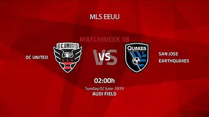 Pre match day between DC United and San Jose Earthquakes Round 18 MLS