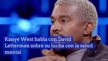 Kanye West habla con David Letterman sobre su lucha con la salud menta