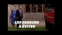 Trump et la Reine Elizabeth II: les erreurs de protocole qu'il devra (cette fois) éviter