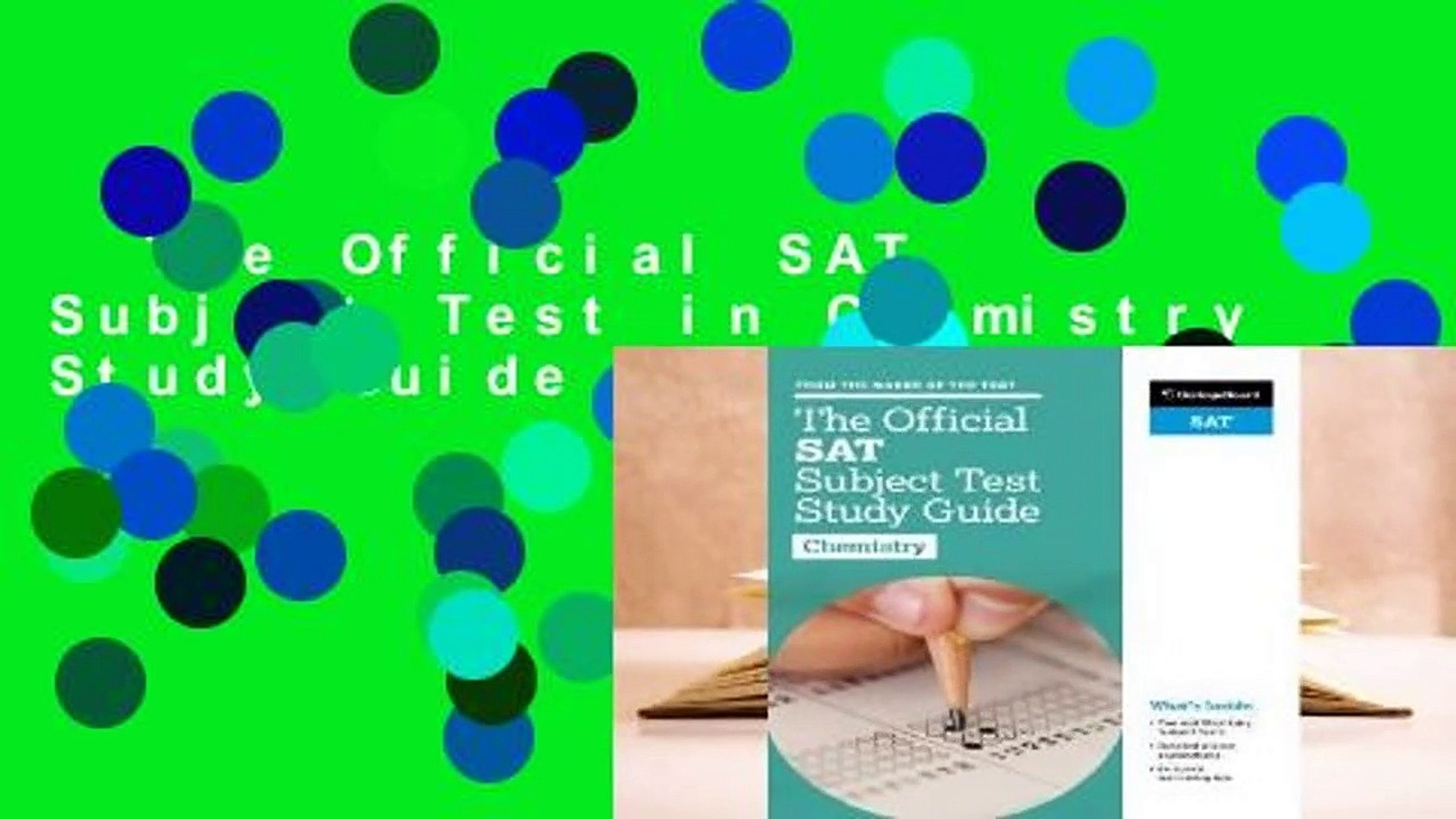 The Official SAT Subject Test in Chemistry Study Guide For Kindle