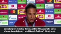 "(Subtitled) ""Messi is the best in the world"" Van Dijk on Balon D'Or"