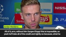 (Subtitled) 'Without him this is impossible' Henderson on Klopp
