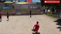 Pétanque : Championnats Territoriaux Rhône-Alpes 2019 à Chabeuil - huitième individuel RADNIC vs PERRET - Fin