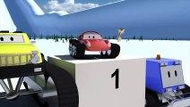 Voitures de course Spid, Chasse neige, Monster Truck, vaisseaux   Dessins animés pour enfants 3D