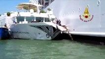 Cruise ship loses control, slams Venice wharf and tourist boat