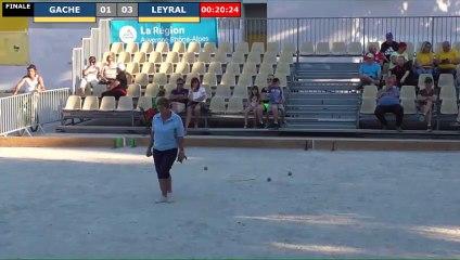 Pétanque : Championnats Territoriaux Rhône-Alpes 2019 à Chabeuil - Finale féminin GACHE vs LEYRAL