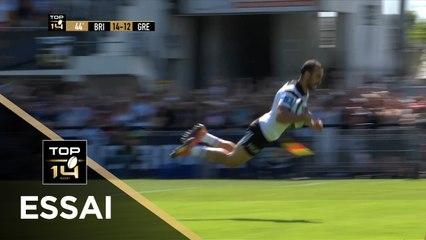 TOP 14 - Essai Samuel Marques (CABCL) - Brive-Grenoble - Access Match - Saison 2018/2019