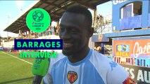 La réaction de Mamadou Soro Nanga héros du match entre le Gazélec FC Ajaccio - Le Mans FC (0-2) 2018/2019