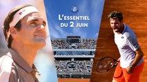 Roland-Garros 2019 - Monumental Wawrinka, Nadal et Federer en balade : l'essentiel du 2 juin