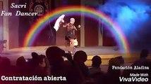 Rumba Fusión en el Teatro Ateneo,Sacri Fan Dancer y sus abanicos