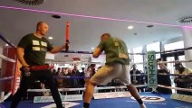 UPSET ON THE CARDS? - BIG HEAVYWEIGHT KASH ALI HAMMERS THE PADS AHEAD OF DAVID PRICE CLASH