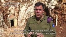 Israeli army reveals a Hezbollah cross-border tunnel into Israel