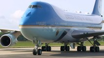Trump touches down in UK on Air Force One for state visit
