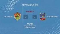 Resumen partido entre CP Cacereño y SD Formentera Jornada 1 Tercera División - Play Offs Ascenso