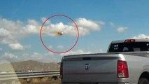 Kurz vor dem Absturz: Kampfjetpilot benutzt den Schleudersitz