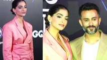 Sonam Kapoor Looks fabulous in pink pant suit at GQ Best Dressed 2019   Boldsky