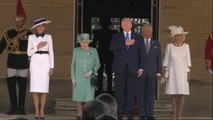 Trump arrives at Buckingham Palace for UK visit