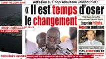 """Le Titrologue du 03 Juin 2019 : Ahousou Jeannot, """"Il est temps d'oser le changement"""""""